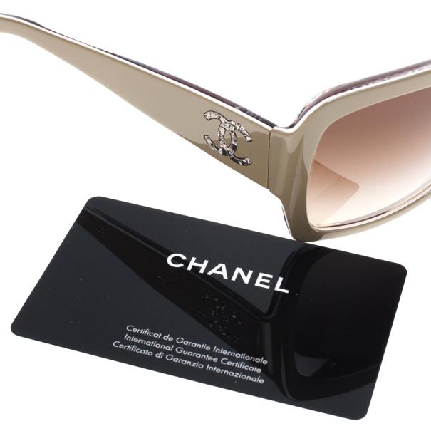 Chanel Beige 5221 CC Square Women's Sunglasses