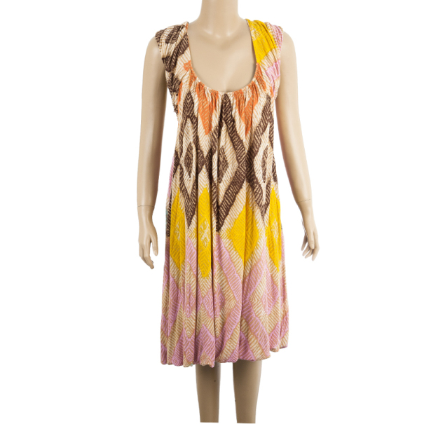 Diane Von Furstenberg Ora Printed Dress L