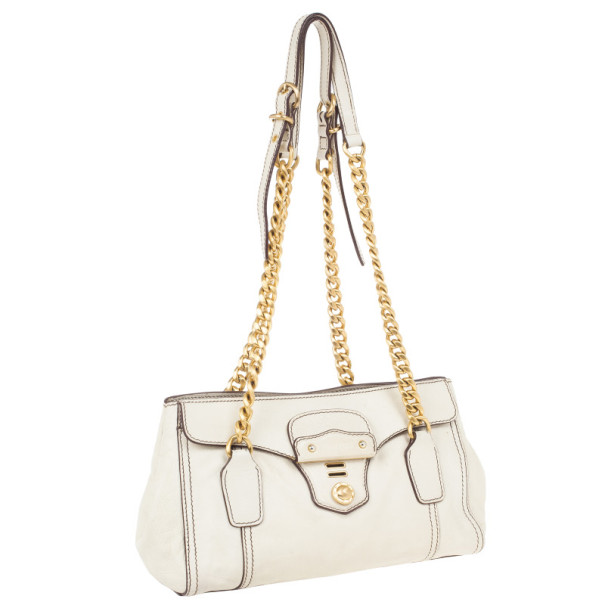 Miu Miu Beige Chain Strap Convertible Bag