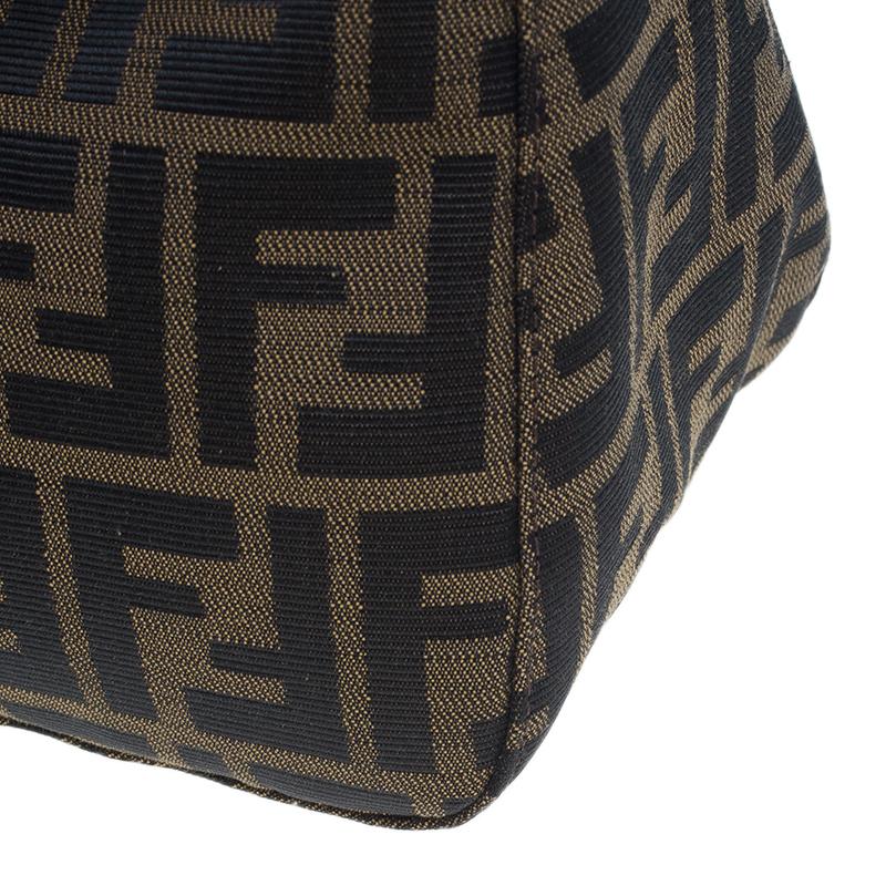 Fendi Brown Zucca Small Shoulder Bag