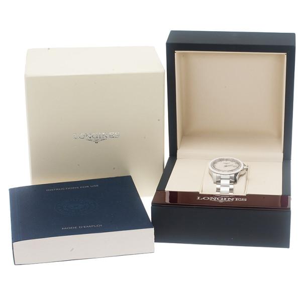 Longines White Stainless Steel & Ceramic Women's Wristwatch 35MM