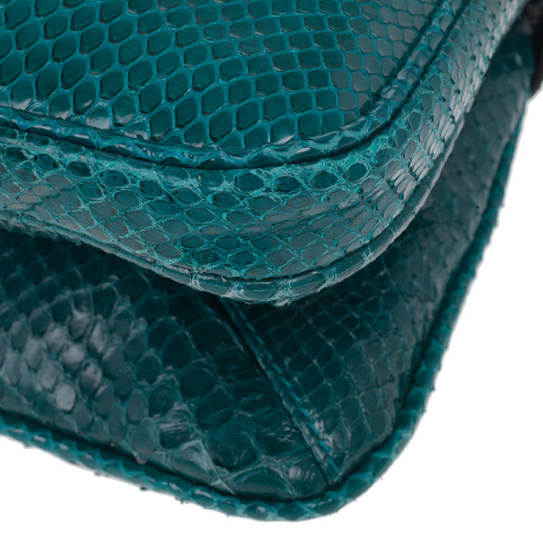 Mulberry Turquoise Python Skin Maggie