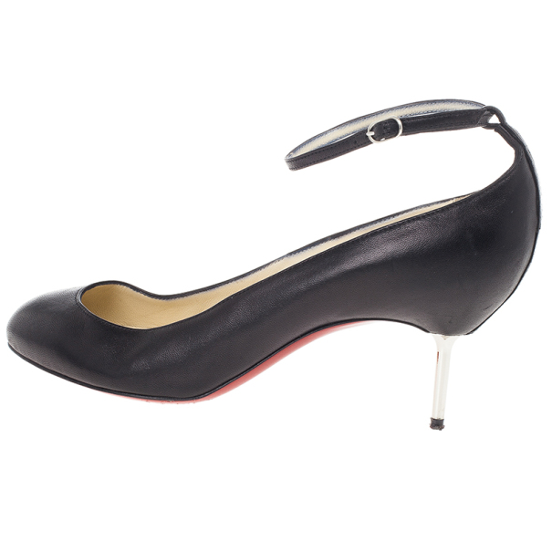 Christian Louboutin Black Ika Ankle Strap Pumps 39