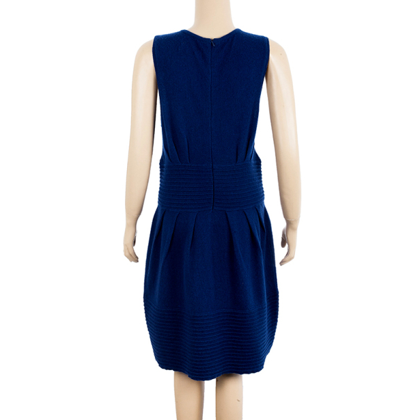 Catherine Malandrino Pointelle Ribbed Knit Dress L