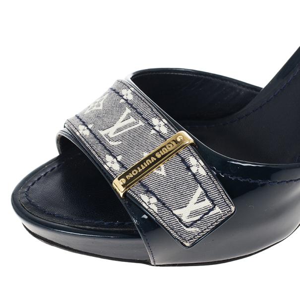 Louis Vuitton Monogram Buci Mules Size 35.5