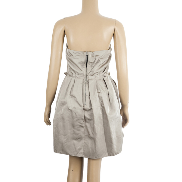Marc Jacobs Strapless Taffeta Bustier Dress M