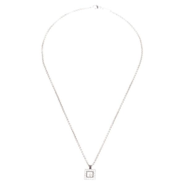 Chopard Happy Diamonds Icons 18K White Gold and Diamonds Pendant