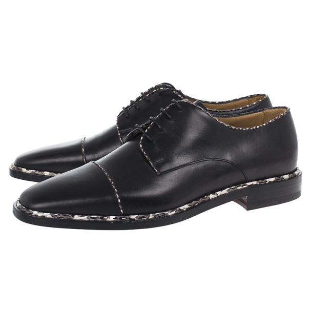 Christian Louboutin Black Python Trim Oxfords Size 40