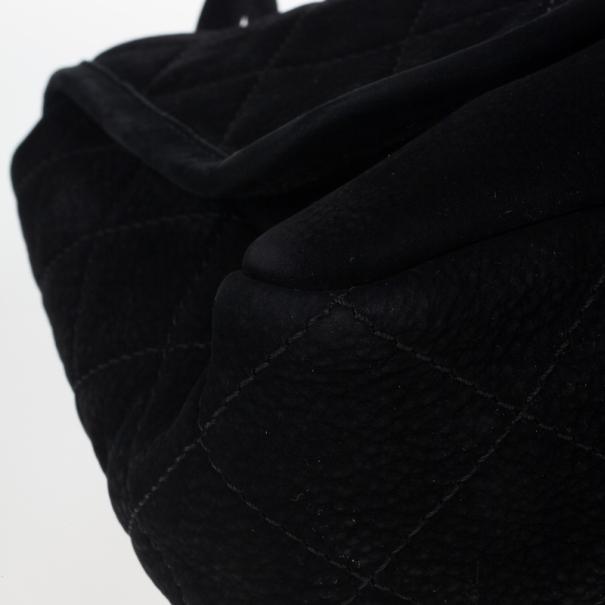 Chanel Black Suede Jumbo Flap Bag