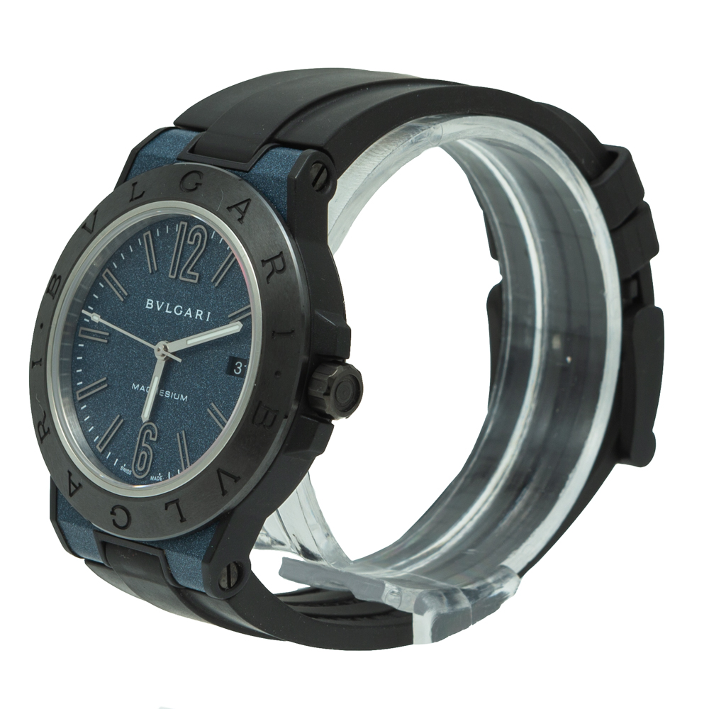 Bvlgari Diagono Magnesium Ceramic Navy Blue Dial Watch 41MM