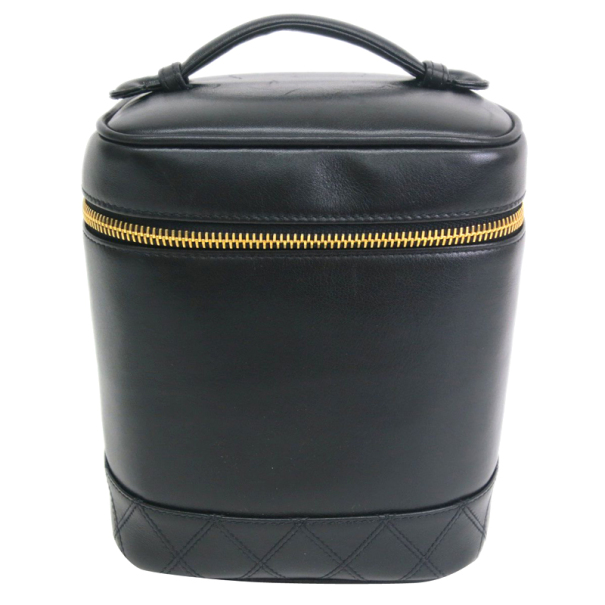 Chanel Black Calf Leather Vanity Bag