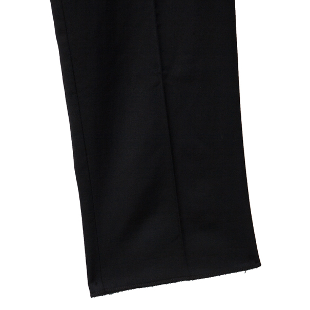 Dolce and Gabbana Black Satin Wool Blend Tuxedo Pants Large