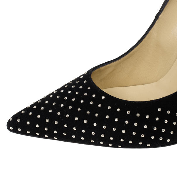 Jimmy Choo Black Anouk Studded Pumps 38.5