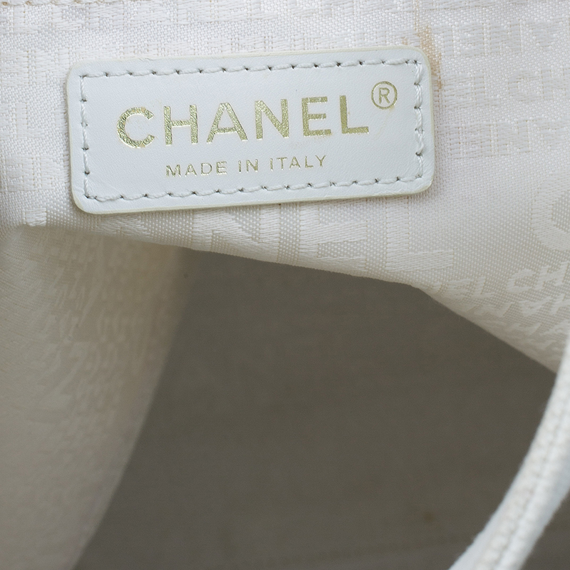 Chanel Grey Canvas Coco Window Tote