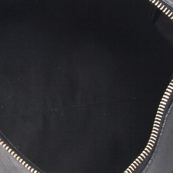 Gucci Black Small GG Canvas D Gold Hobo