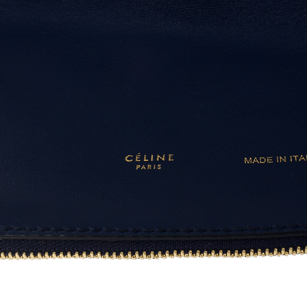celine small luggage tote price - LC - Buy \u0026amp; Sell - Celine Lambskin Ink Blue Berlingot Clutch