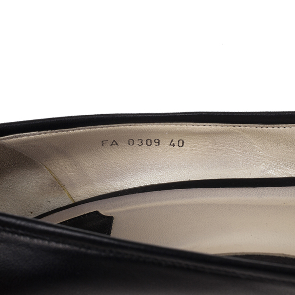 Dior Black Leather Buckle Pumps Size 40