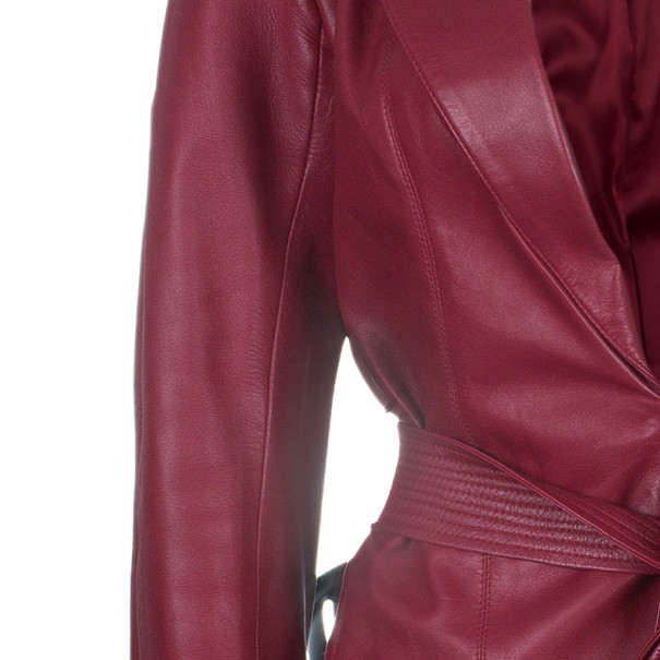 Dior Boutique Red Leather Jacket M
