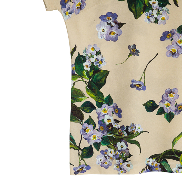 Dolce and Gabbana Floral Print Top M