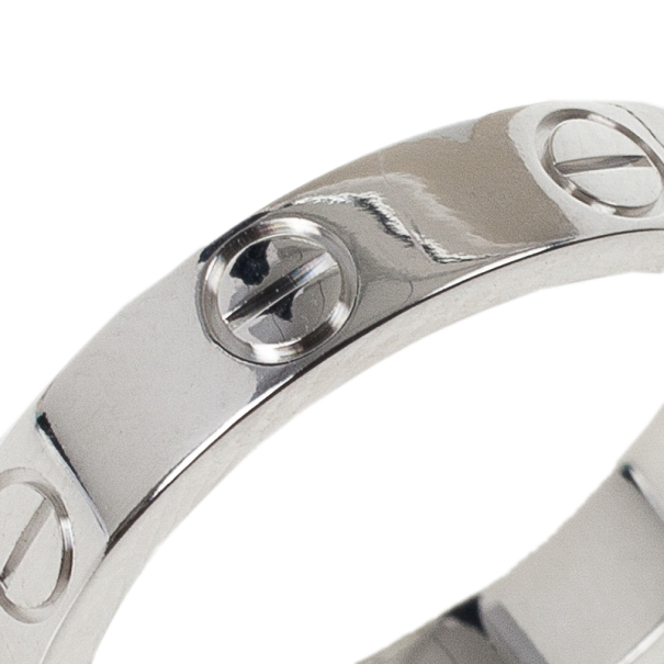 Cartier Love 18k White Gold Wedding Band Ring Size 49