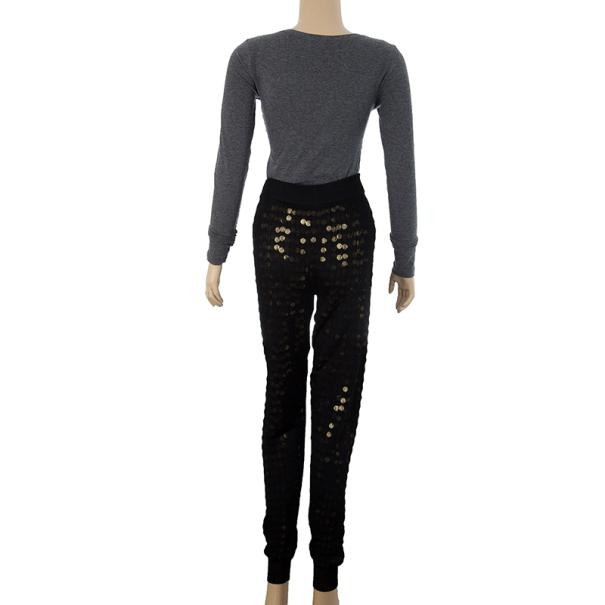 Stella McCartney Metallic Sequined Meshjersey Pants M