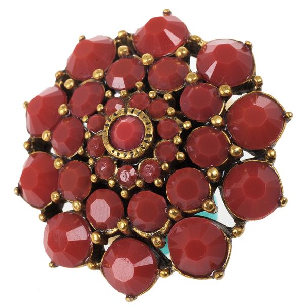 Oscar de la Renta Cabochon Ring Size 52