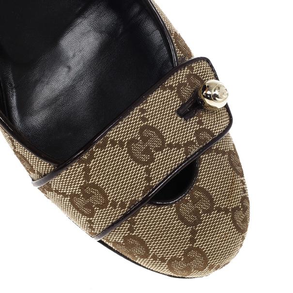 Gucci Beige GG Canvas Pumps Size 38
