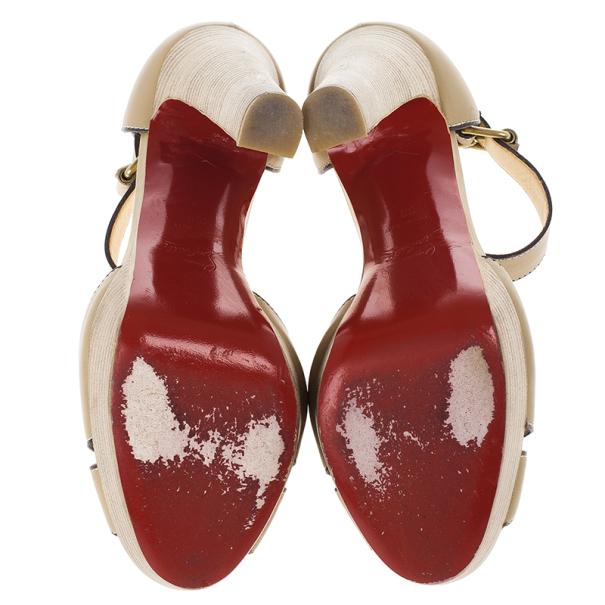 Christian Louboutin Woodaola Platform Sandals Size 38