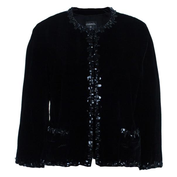 Chanel Velvet Embellished Jacket XXL