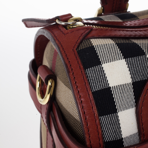 Burberry Medium Bridle House Check Bowling Bag
