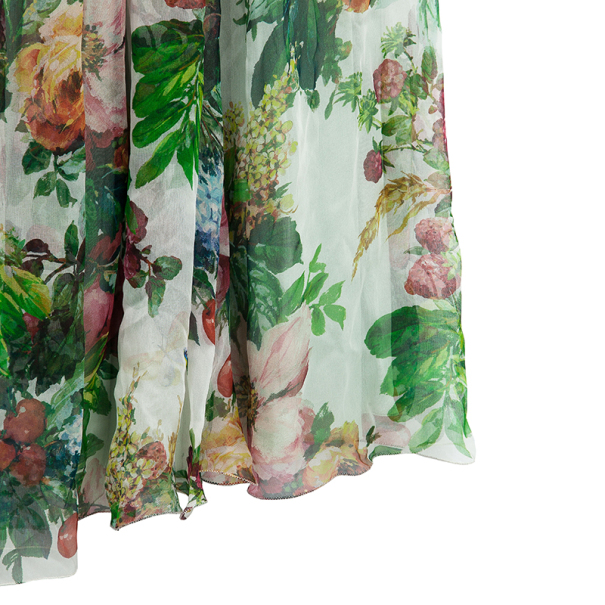 Dolce and Gabbana Floral Print Babydoll Dress M