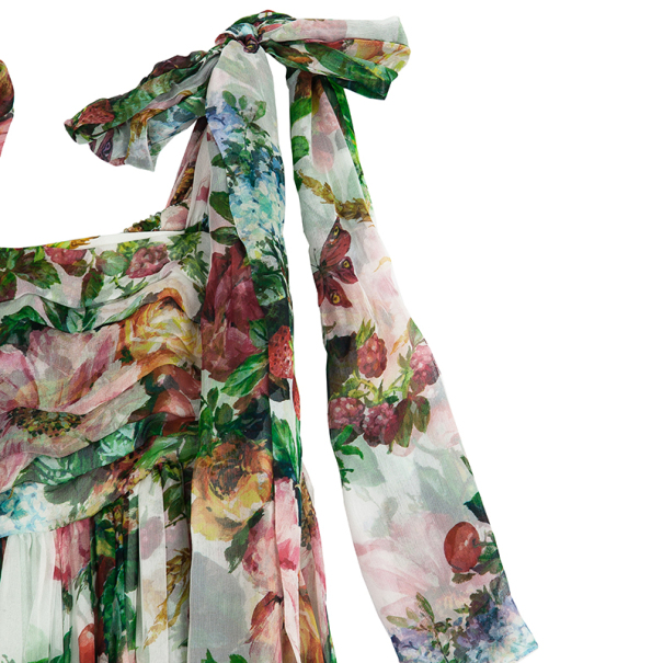 Dolce and Gabbana Floral Print Babydoll Dress M