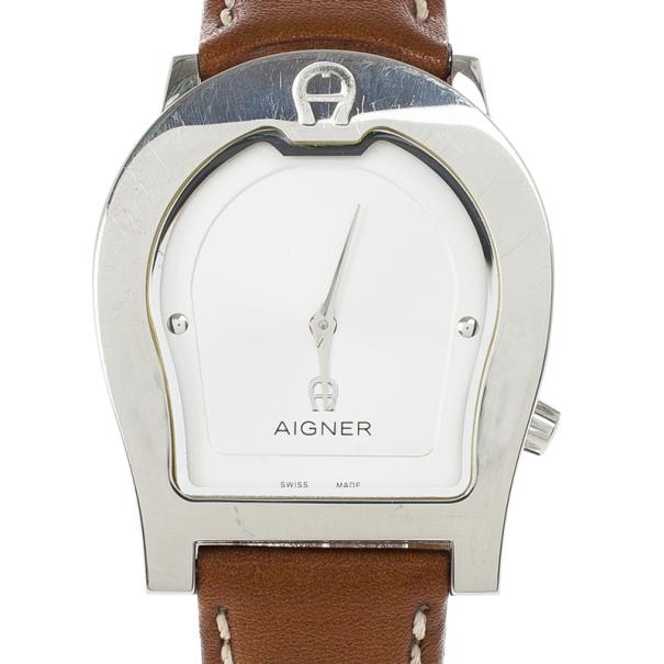 Aigner White Stainless Steel Ravenna Unisex Wristwatch 34MM