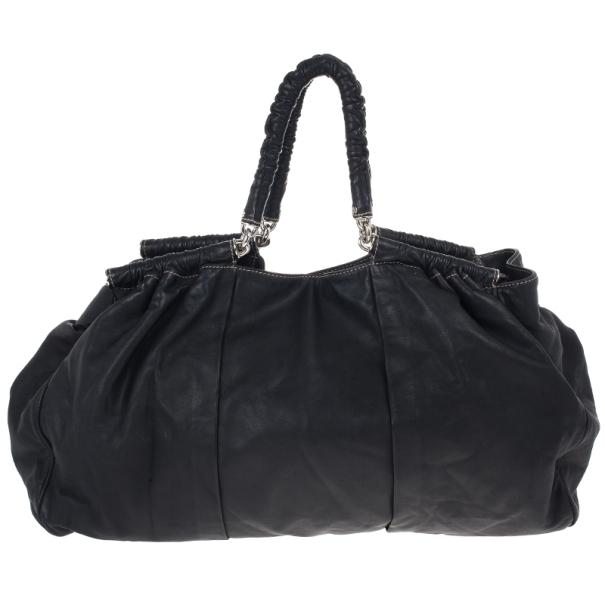 Dolce and Gabbana Black Miss Lexington Satchel