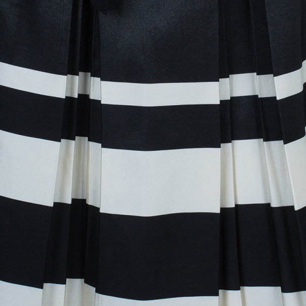CH Carolina Herrera Monochrome Pleated Skirt S