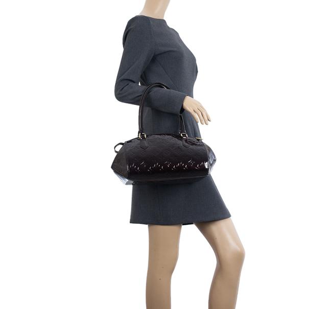 Louis Vuitton Amarante Monogram Vernis Sherwood PM Tote Bag