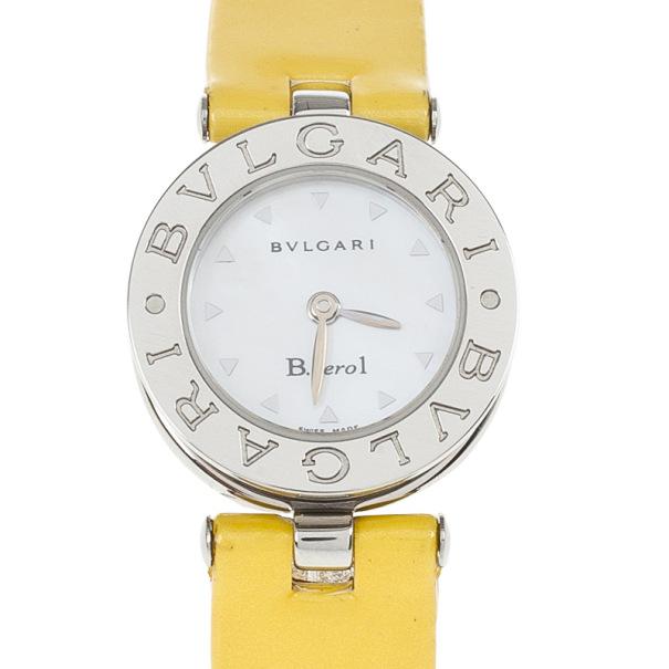 Bvlgari White Stainless Steel Bzero Women's Wristwatch 34MM