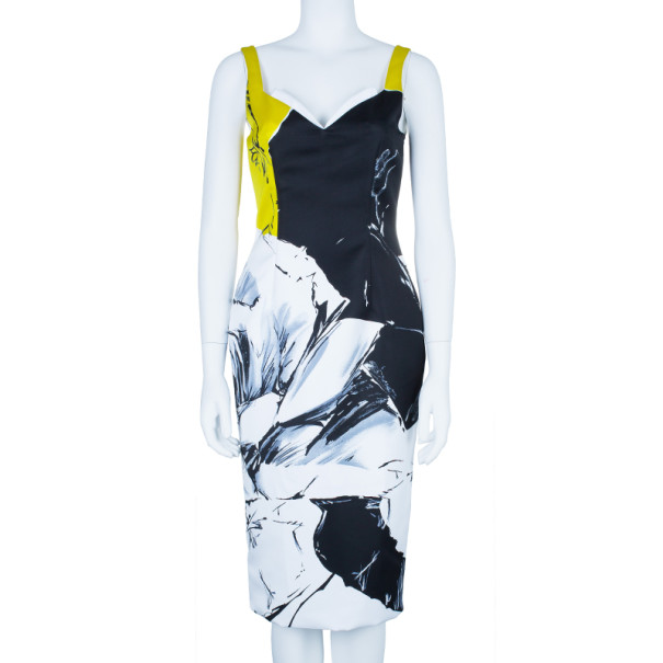 Prabal Gurung Floral Printed Bustier Dress M