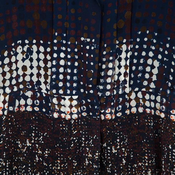 Oscar de la Renta Multicolor Printed Button Up Dress S