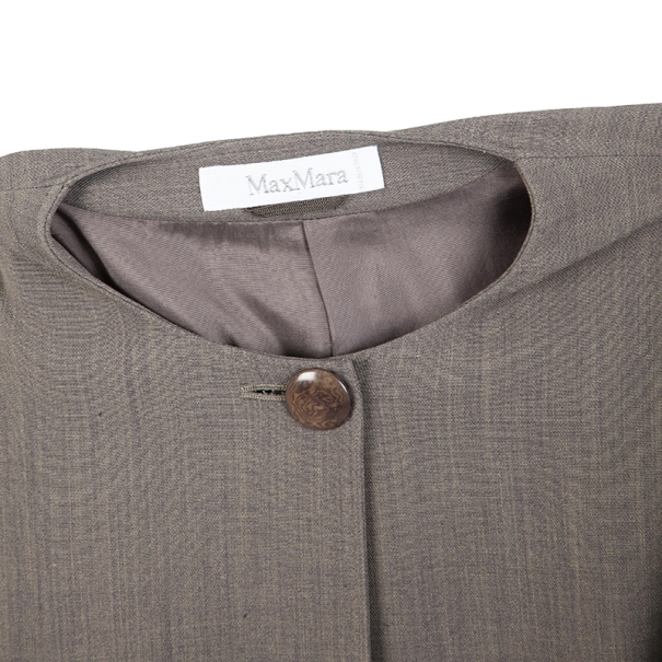 Max Mara Grey Top Button Jacket S
