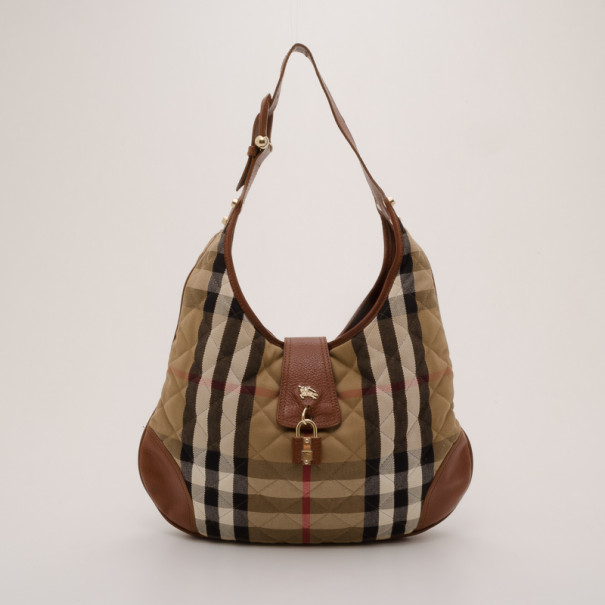 ... Burberry Quilted House Check Brooke Hobo Bag. nextprev. prevnext