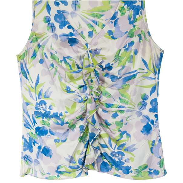 St. John Sleeveless Floral Blouse L
