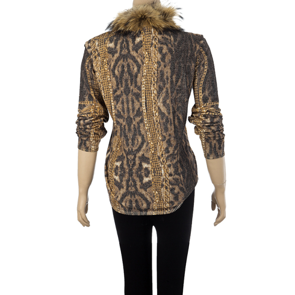 Roberto Cavalli Fur Collar Jacket M