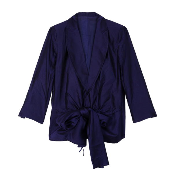 Gianfranco Ferre Purple Wrap Blazer Jacket XL