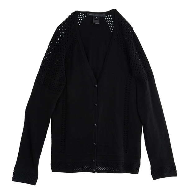 Marc by Marc Jacobs Black Button Down Cardigan M