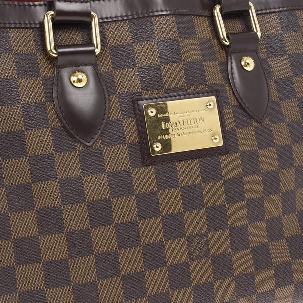 Louis Vuitton Damier Ebene Monogram Hampstead PM