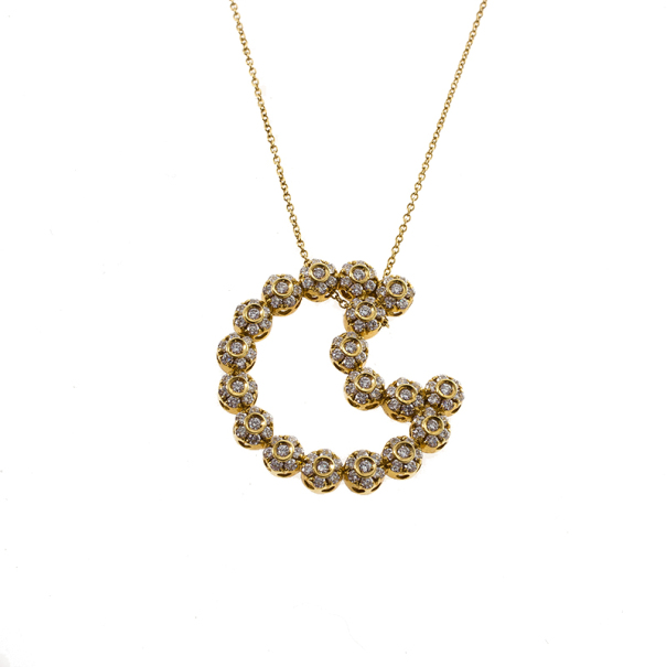 Pasquale bruni diamond moon yellow gold necklace buy sell lc prevnext aloadofball Image collections