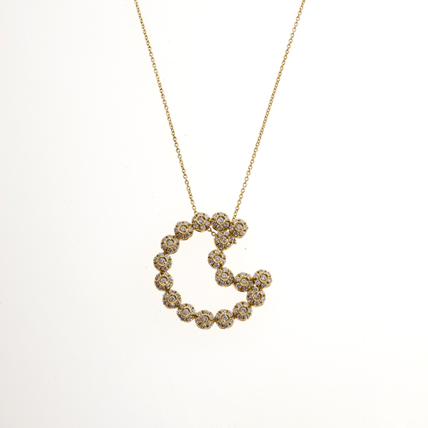 Pasquale Bruni Diamond Moon Yellow Gold Necklace