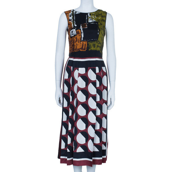 Dolce and Gabbana Printed Silk Dress S