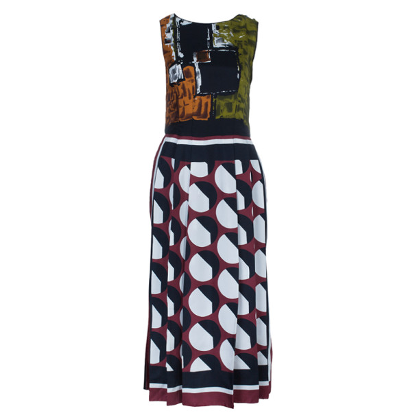 Dolce and Gabbana Printed Silk Dress S